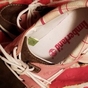 8f34b51a344 Timberland Shoes - TIMBERLAND Deck Shoes Loafers Ladies Pink Plaid